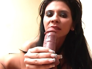 Brunette And Her Dildo